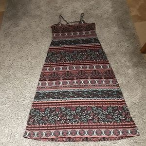 Full Tilt Long Printed Maxi Dress